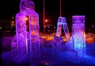 """Pakruojo dvare ledo skulptūrų ir šviesų festivalis """"Pasaka"""""""