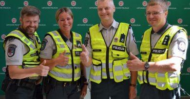Išrinkta geriausia Šiaulių apskrities policijos komanda