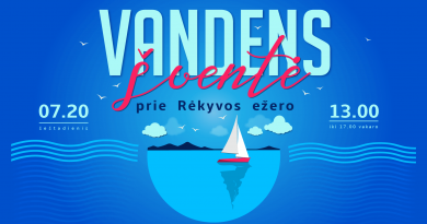 Spektaklis visai šeimai, vandens aerobika ir koncertas Vandens šventėje!