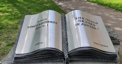 Knyga prie Šiaulių Vinco Kudirkos progimnazijos